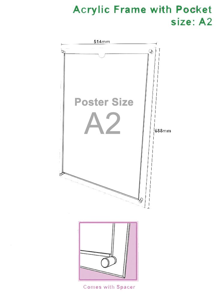A2 Acrylic Frame |