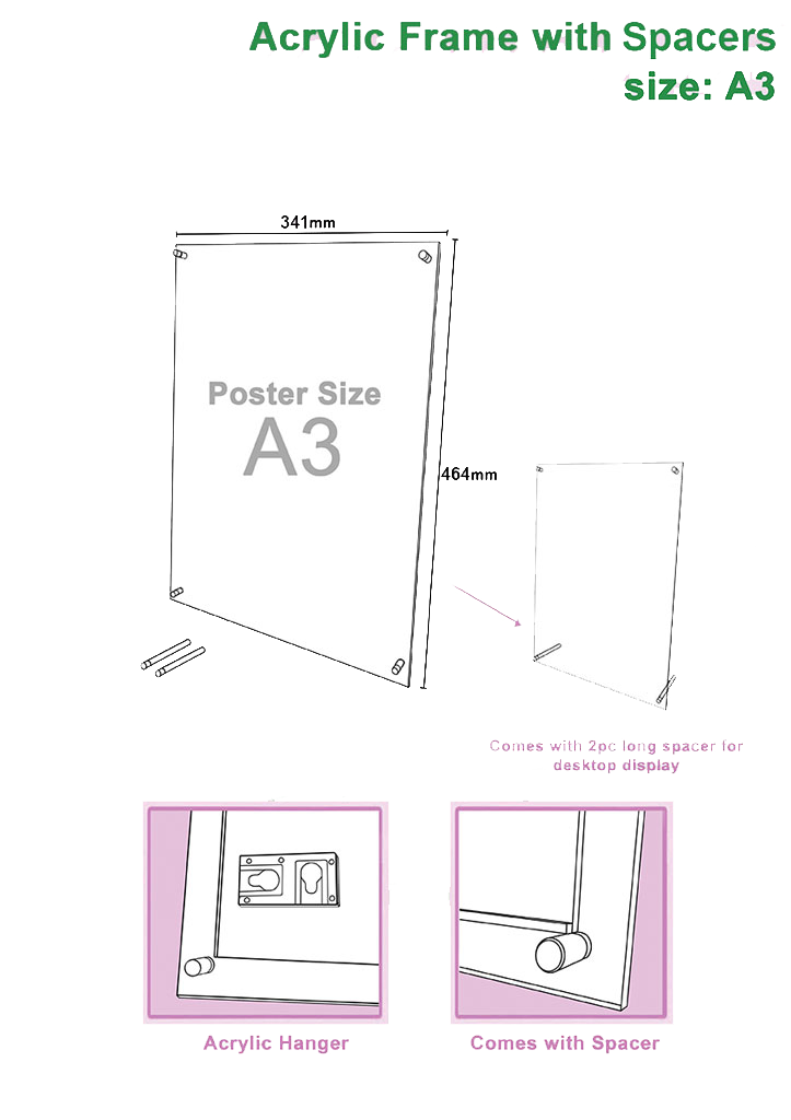 a3-acrylic-frame-with-spacer