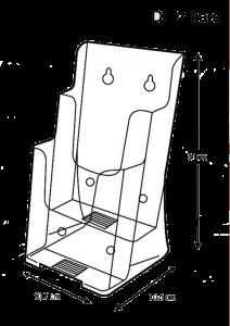brochure-holder-desk-top-type-dl-2-tier