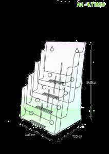 brochure-holder-desktop-type-a4-4-tier