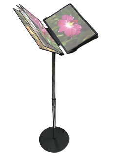 Menu Book Floor Stand